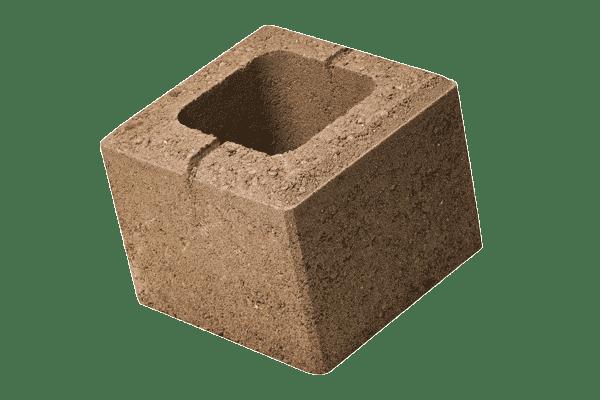 petra-pavaje-gard-simplu-robusto-20x20x16-maro-deschis